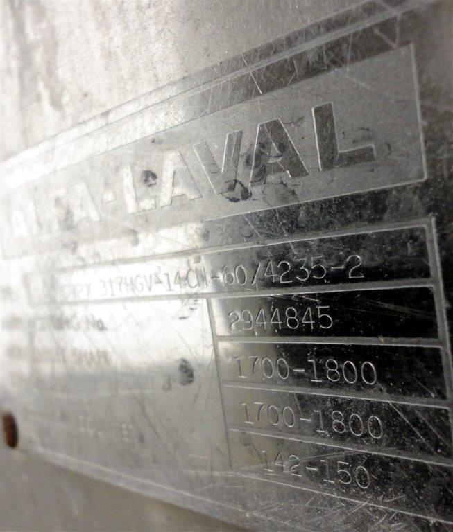 ALFA LAVAL DISC CENTRIFUGE, Mdl. SRPX 317HG V-15CH-60/4235-1