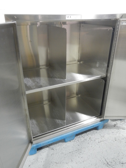 DOUBLE SIDED STORAGE CABINETS, S/S