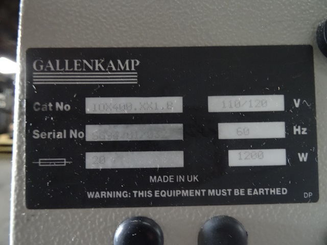 GALLENKAMP INCUBATOR SHAKER, CAT# IOX400.XX1.B