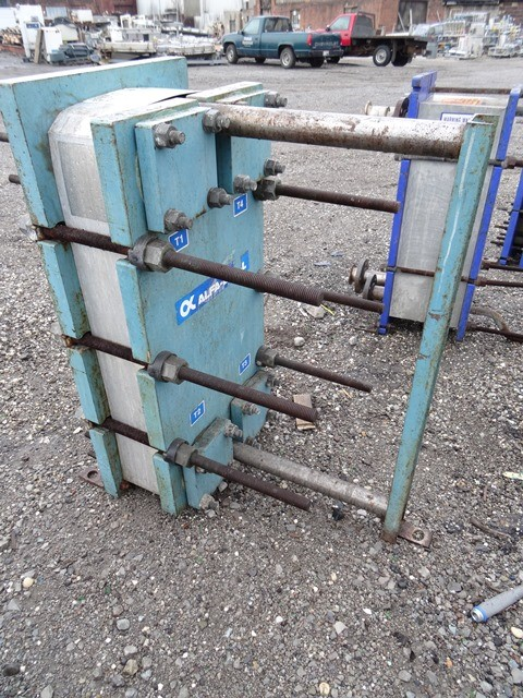 73 SQ FT ALFA LAVAL PLATE HEAT EXCHANGER, 150#