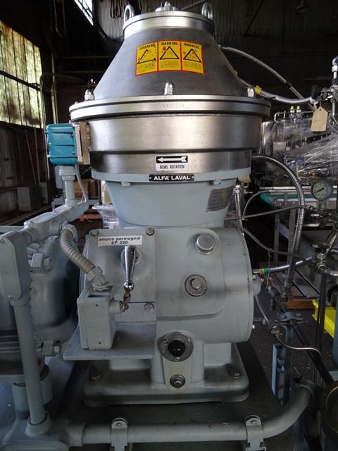 BTPX205-SGD-35CDP-60 Alfa Laval Disc Centrifuge, S/S