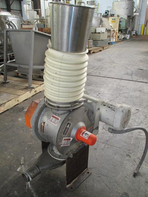 "6"" KICE Rotary Air Lock, S/S, Model VBS10X6"