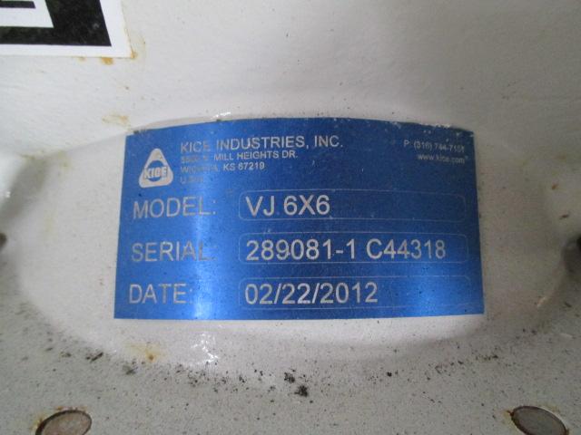 "6"" KICE Rotary Air Lock, C/S, Model VJ6X6"