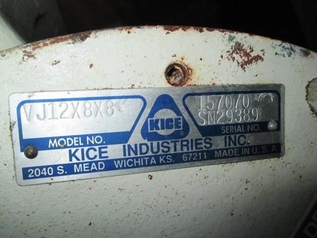 """12"""" KICE ROTARY AIR LOCK, S/S, MODEL VJ12X8X8"""