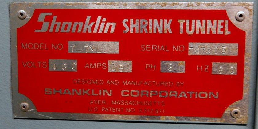 SHANKLIN SHRINK TUNNEL, MODEL T-7XL