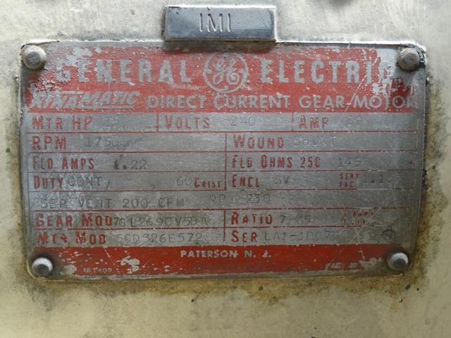 """12"""" X 26"""" FARREL TWO ROLL MILL, (2)25 HP MOTORS"""