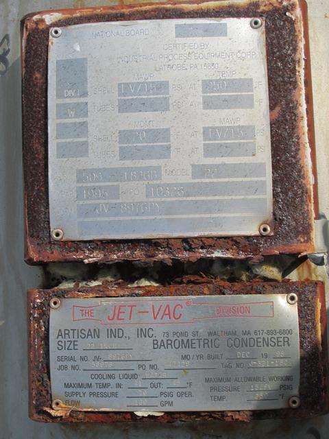 "22"" ARTISAN JET-O-VAC BAROMETRIC CONDENSER"