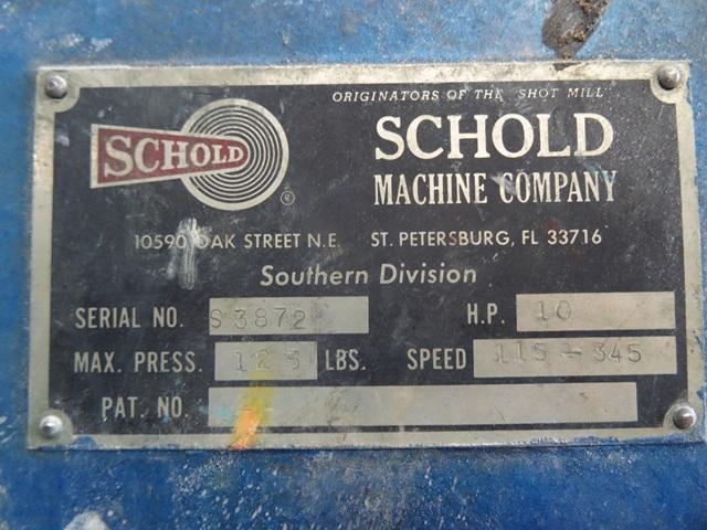 10 HP SCHOLD MIXER, C/S