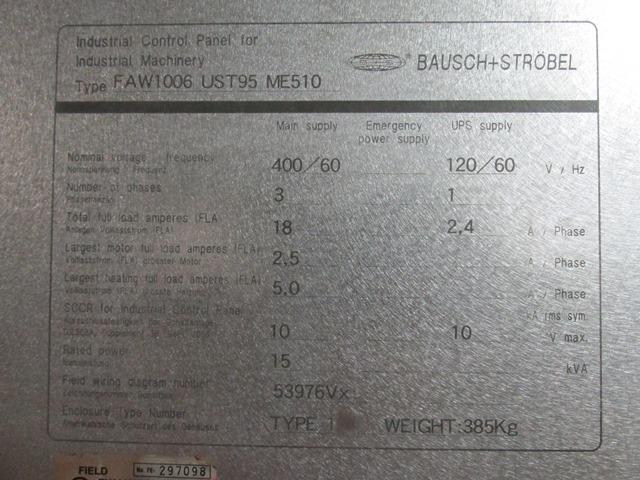 Bausch+Stroebel Tray Loader, Model ME510