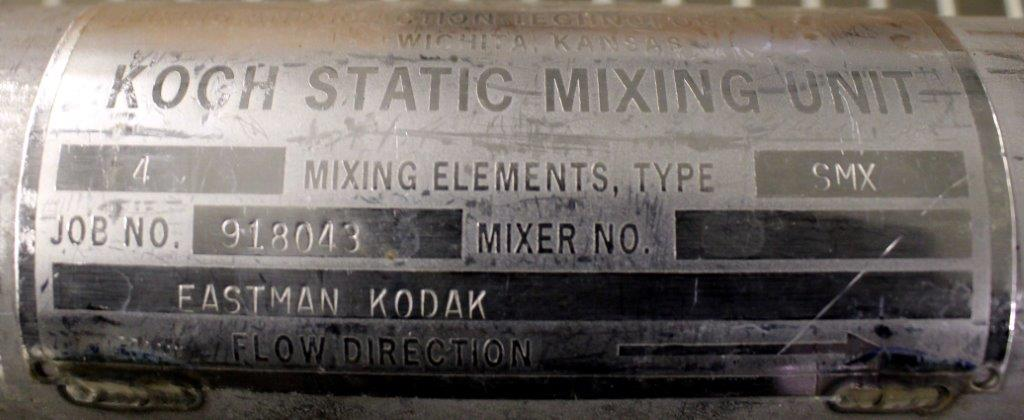 "2.5"" KOCH-GLITSCH STATIC MIXER, TYPE SMX, S/S"