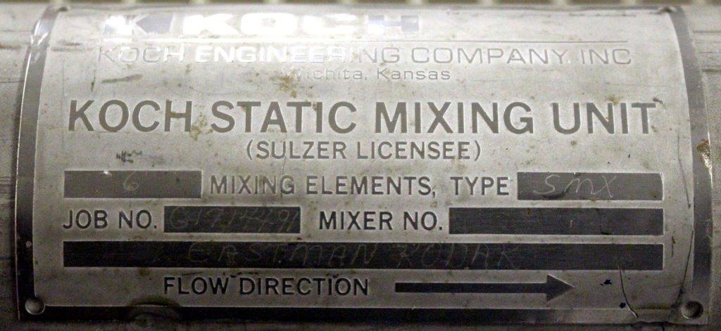 "3.5"" KOCH-GLITSCH STATIC MIXER, TYPE SMX, S/S"