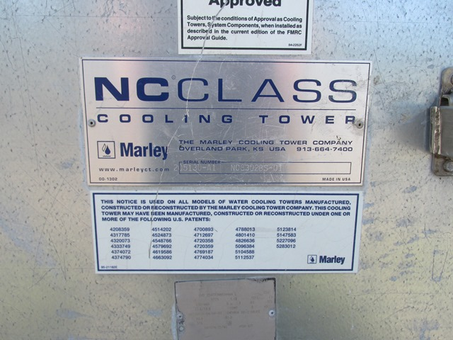 136 Ton Marley Cooling Tower, Model NC8302