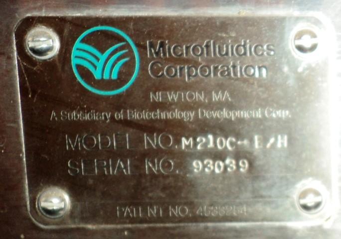 MICROFLUIDICS MICROFLUIDIZER, MODEL M210C-E/H