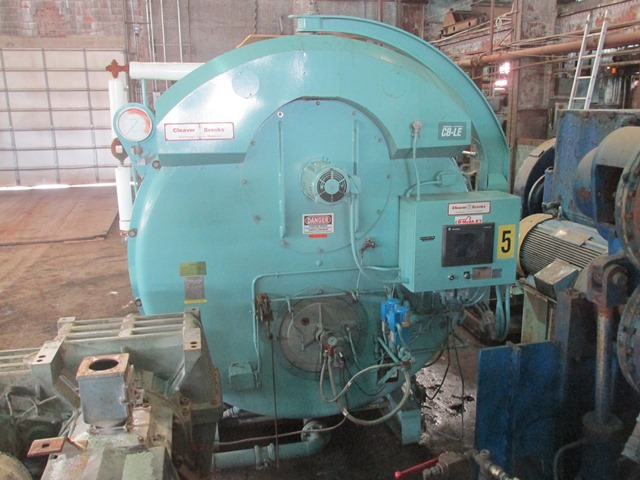 500 HP CLEAVER BROOKS PACKAGED STEAM BOILER, 150 PSI