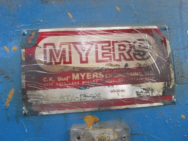 15 HP MYERS DISPERSER, S/S