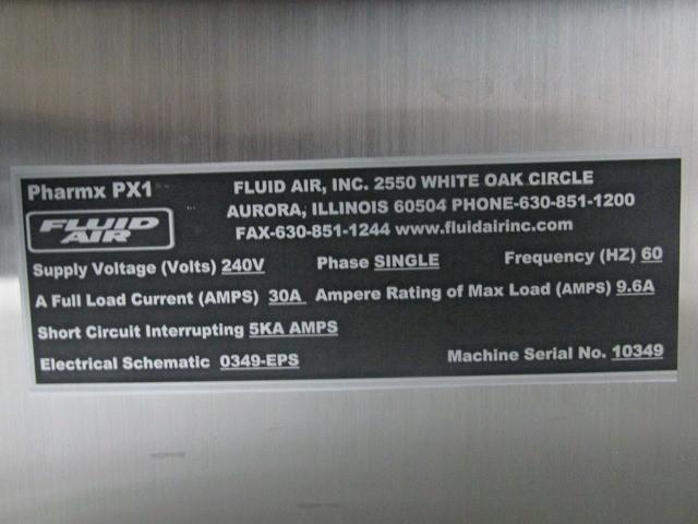 6 LITER FLUID AIR HIGH SHEAR MIXER, S/S, MODEL PX1