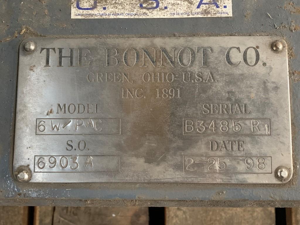 "Bonnot 6"" Single Screw Extruder, Unused"