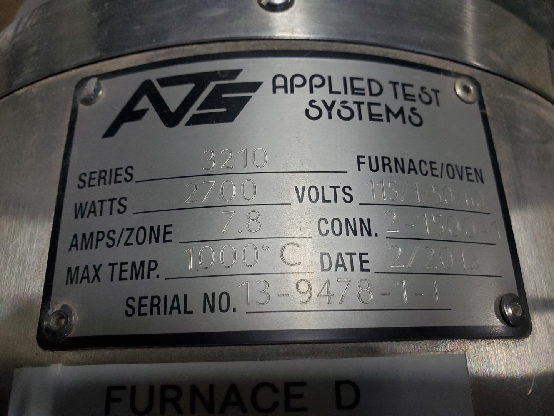 ATS Furnace model 3210, Serial 13-9478