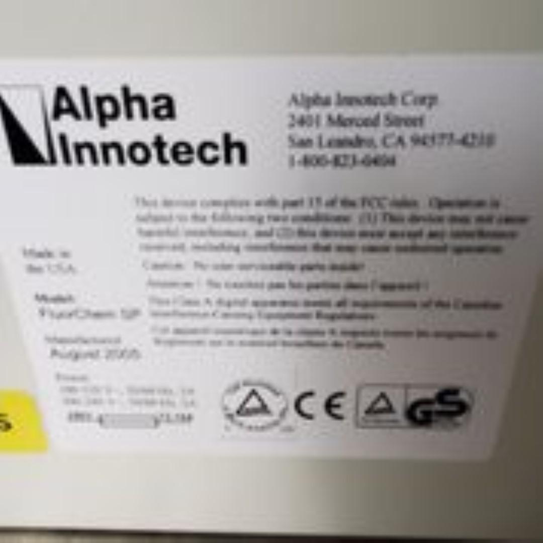 Alpha Innotech FlourChem SP Electrophoresis Gel 2005