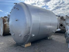 10,000 Gal DCI WFI Receiver Tank, 316L S/S, 45/150#